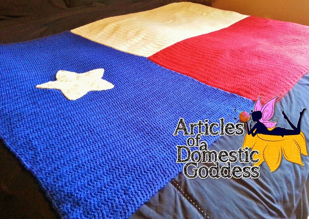 Texas Flag Afghan Crochet Pattern