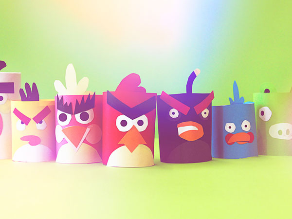Toilet Paper Roll Crafts Angry Birds DIY