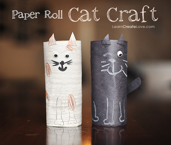 Toilet Paper Roll Crafts Cat DIY