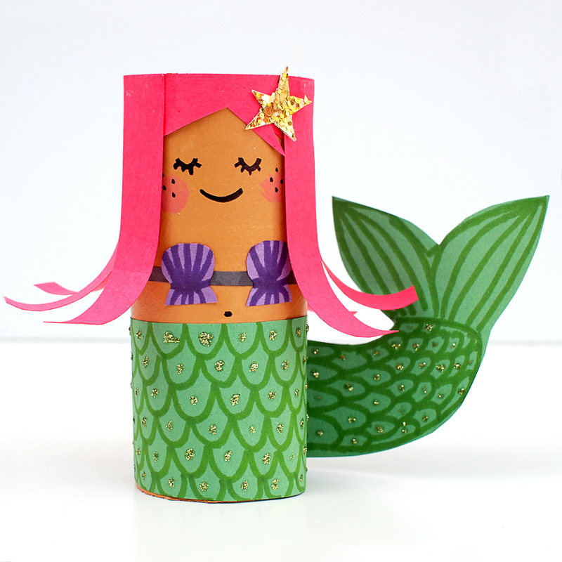 Toilet Paper Roll Crafts Dolls and Mermaid