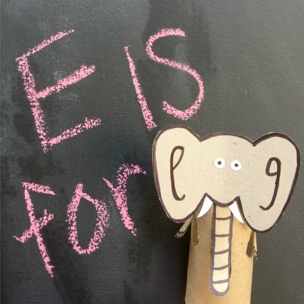 Toilet Paper Roll Elephant Craft DIY