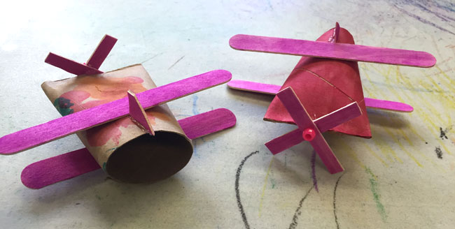 Toilet paper roll crafts airplane ideas