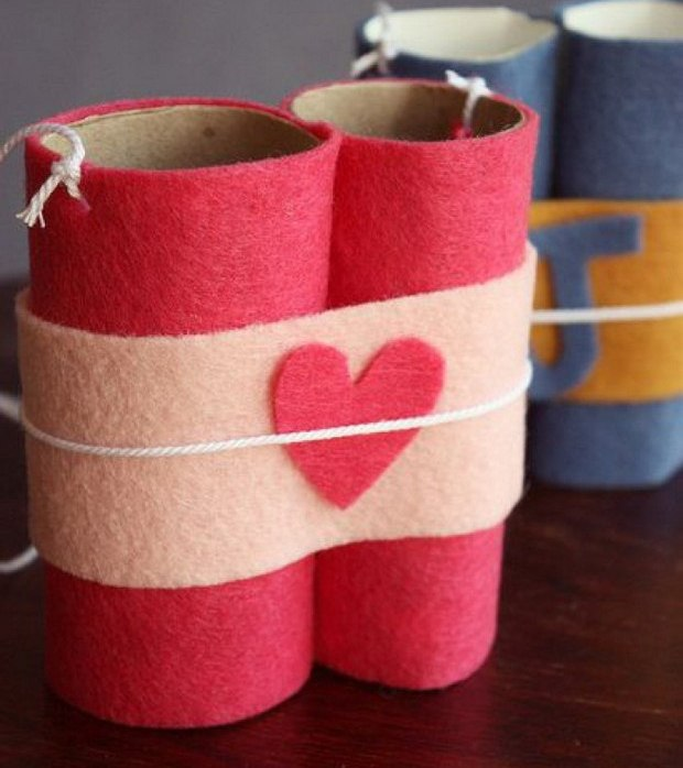 Valentine Toilet Paper Roll Crafts Tutorials