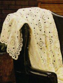 Victorian Lace Afghan Crochet Pattern