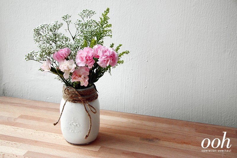 White Mason Jar Flower Arrangements Ideas DIY