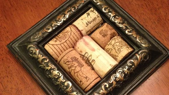 Wine Cork Coasters With Picture Frames DIY
