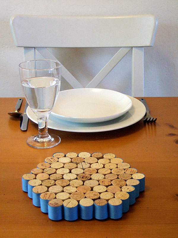 Wine Cork Drink Coasters DIY Ideas