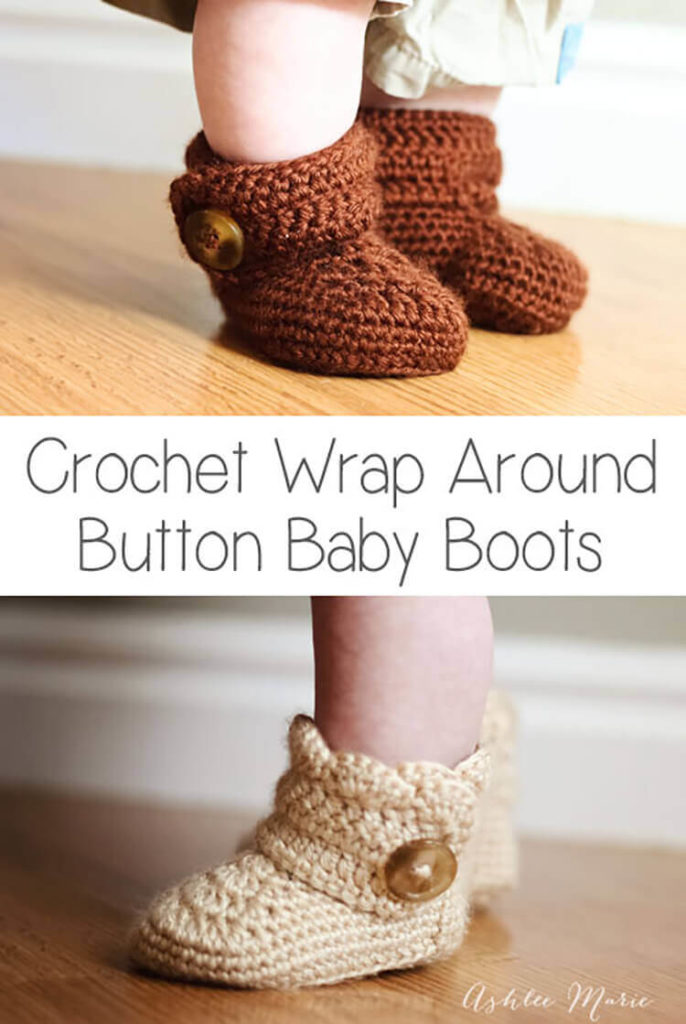 Wrap Around Baby Booties Crochet Patterns