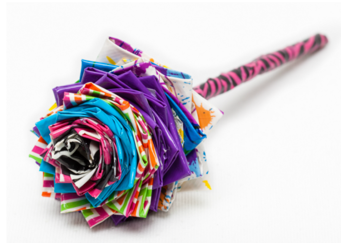 A Duct Tape Flower Pen