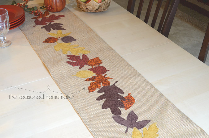 Burlap Table Runner for Fall Tutorial