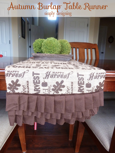 Burlap Table Runner for Thanksgiving