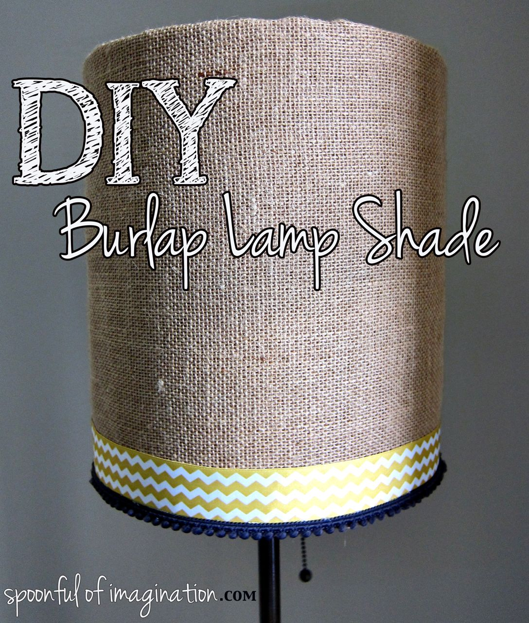 How to make burlap lamp shade 18 diy tutorials diy burlap lamp shade mozeypictures Image collections