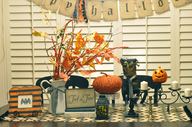 DIY Burlap Table Runners Halloween