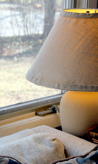 DIY Extra Large Burlap Lamp Shade
