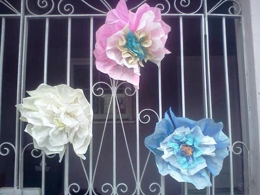 DIY Giant Hanging Tissue Paper Flowers