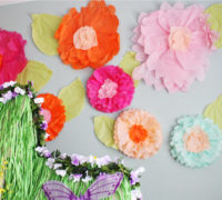DIY Giant Tissue Paper Flowers