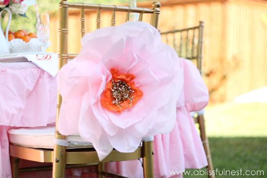 DIY Large Tissue paper Flower Decorations