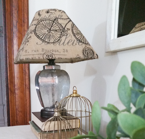 DIY Small Burlap Lamp Shades