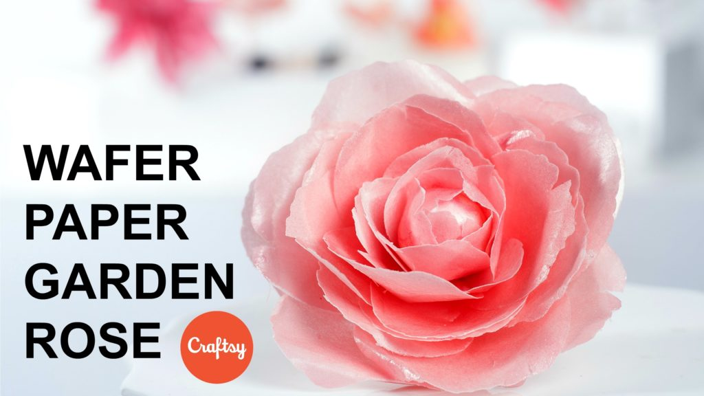 DIY Wafer Paper Rose Tutorial