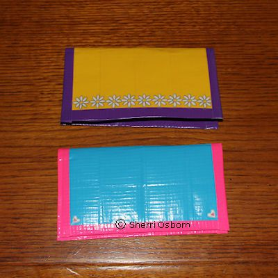 Duct Tape Checkbook Wallet