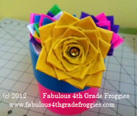 Duct Tape Flower Pen Step By Step