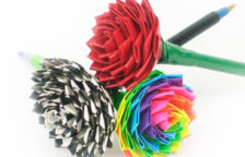 Duct Tape Rose Pens DIY
