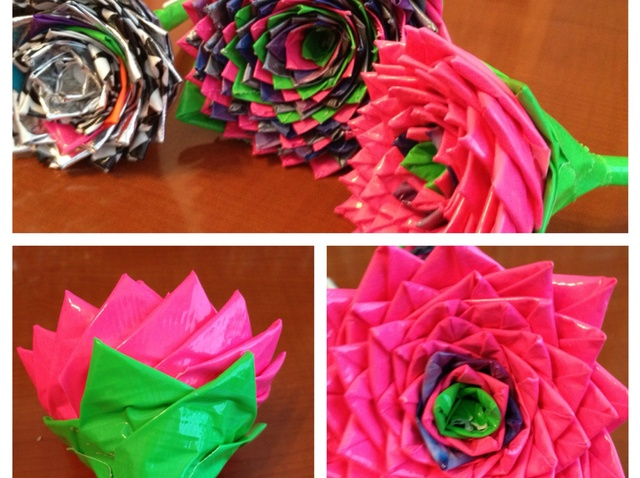 Duct Tape Rose Pens Ideas