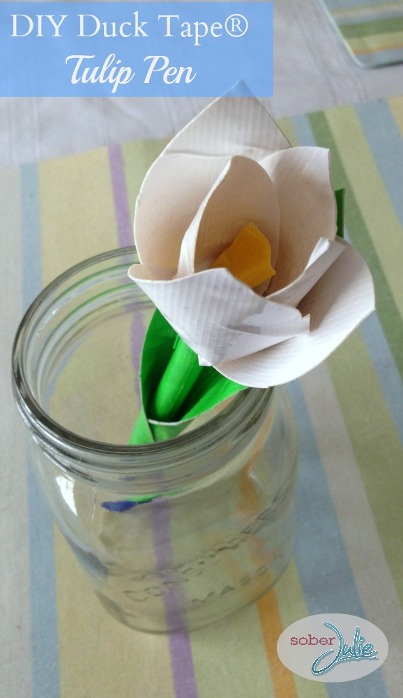 Duct Tape Tulip Flower Pen