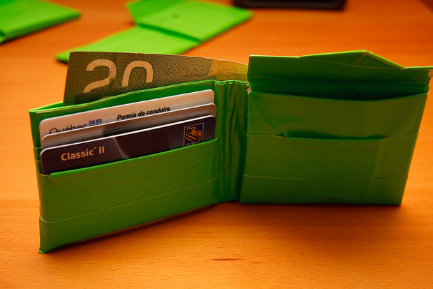 Duct Tape Wallet with Coin Pocket