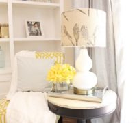 Easy Burlap Lamp Shade Tutorial