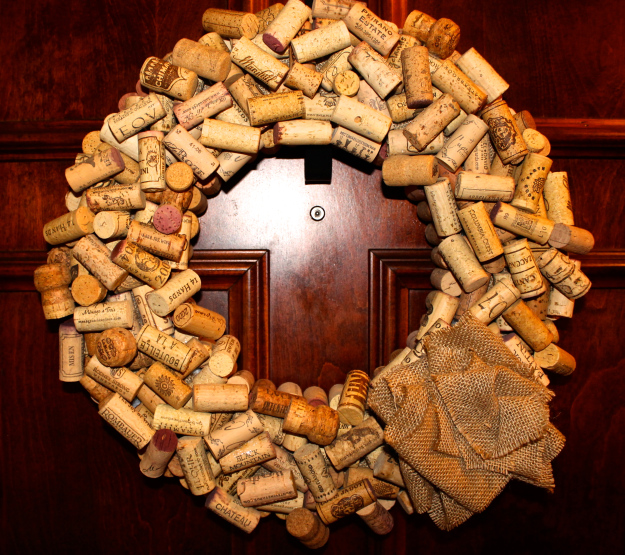 Easy Wine Cork Wreath
