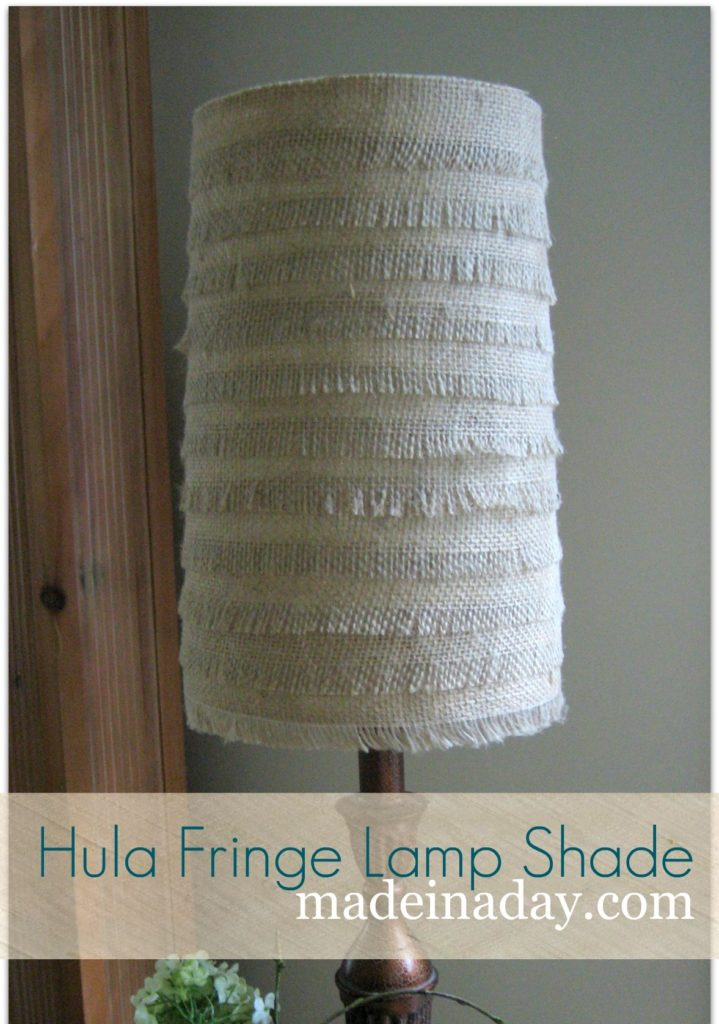 Fringe Burlap Lamp Shade Tutorial