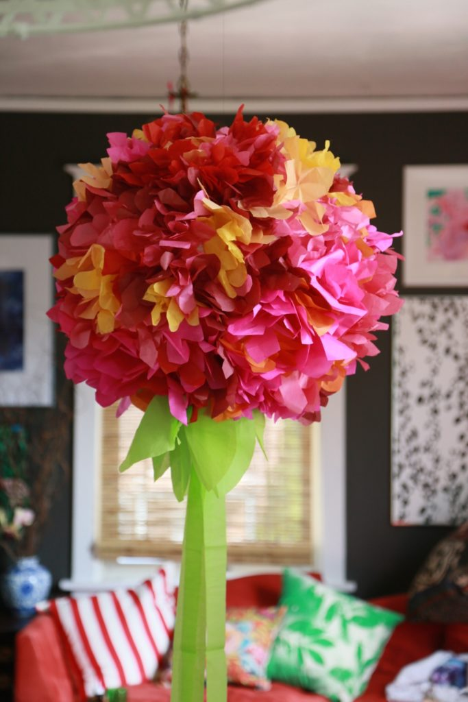 Giant Tissue Paper Flower Chandelier