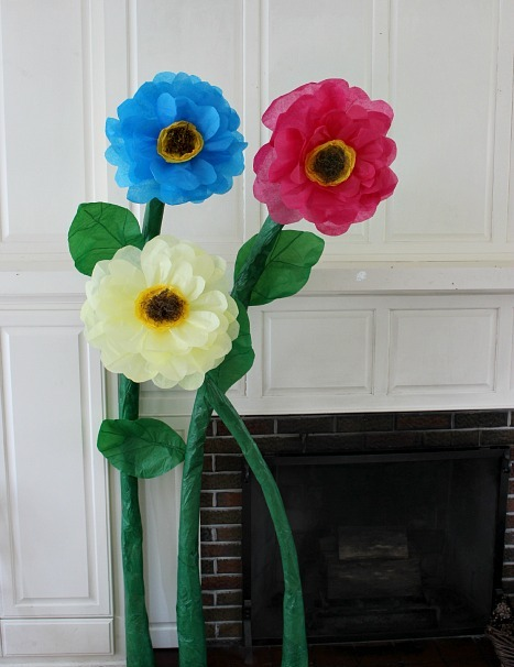 Giant Tissue Paper Flower Decorations