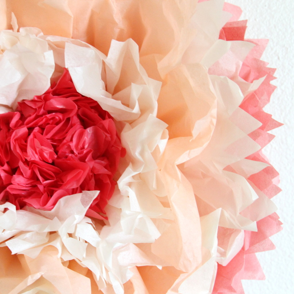 Giant Tissue Paper Flowers Tutorials