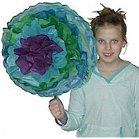 Giant Tissue Paper Flowers for Kids