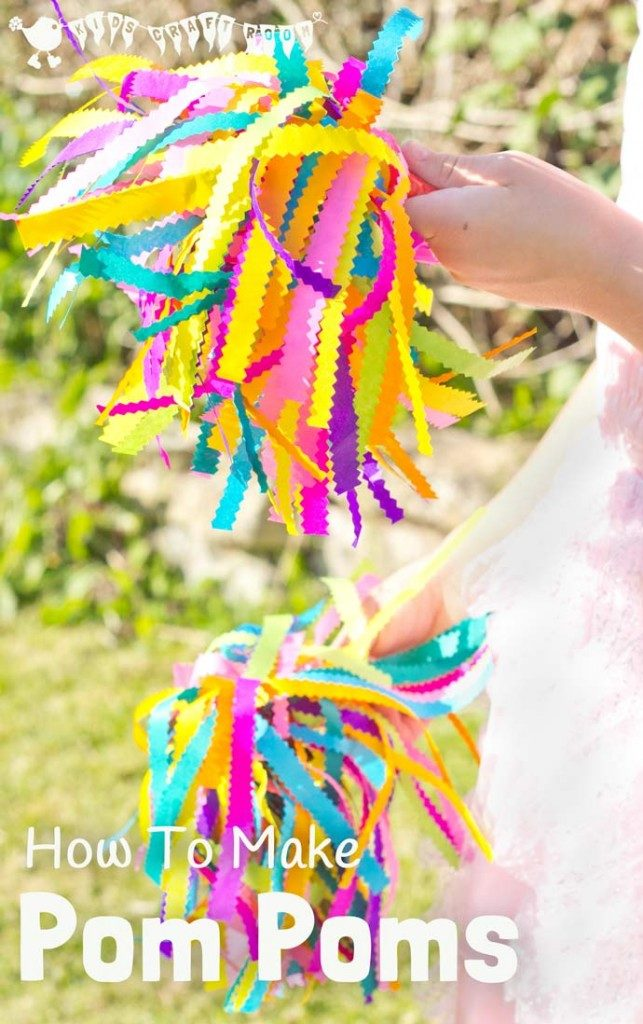 How to Make Cheer Pom Poms out of Tissue Paper