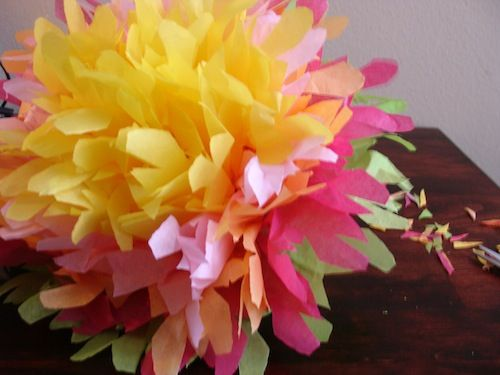 How to Make Giant Mexican Tissue Paper Flowers