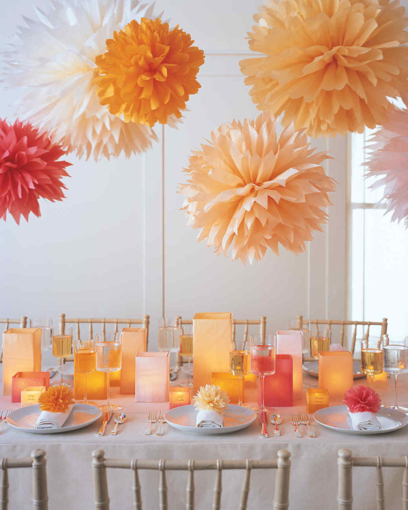 How to Make Large Tissue Paper Pom Poms