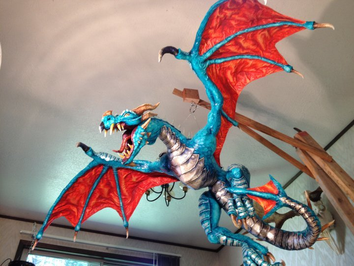 How to make a Paper Mache Dragon Tutorial