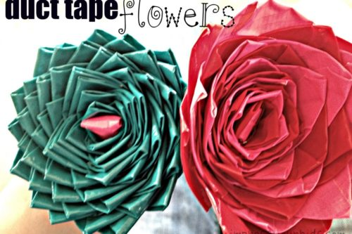Making Flower Pens With Duct Tape