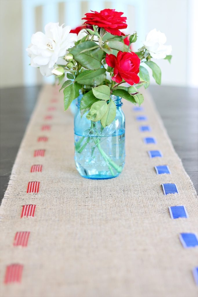 Patriotic Burlap Table Runner DIY