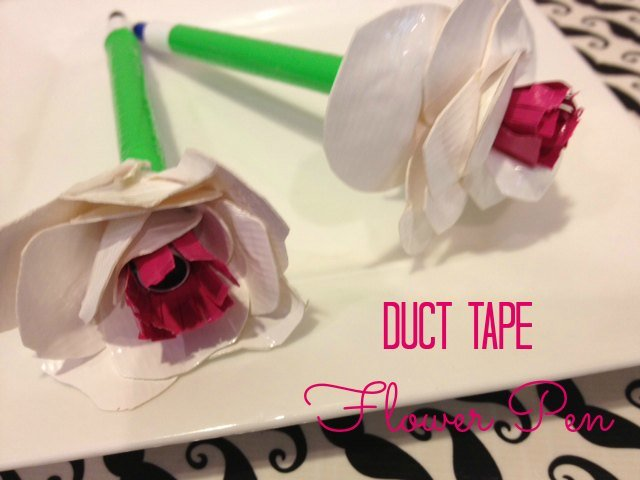 Pictures Of Duct Tape Flower Pens