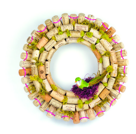 Pictures of Wine Cork Wreath Ideas