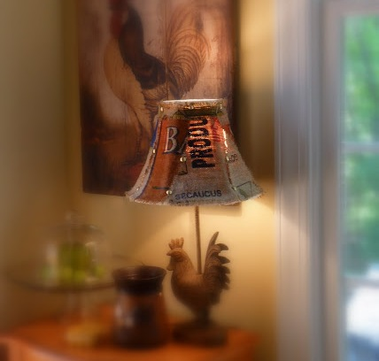 Printed Burlap Lamp Shade