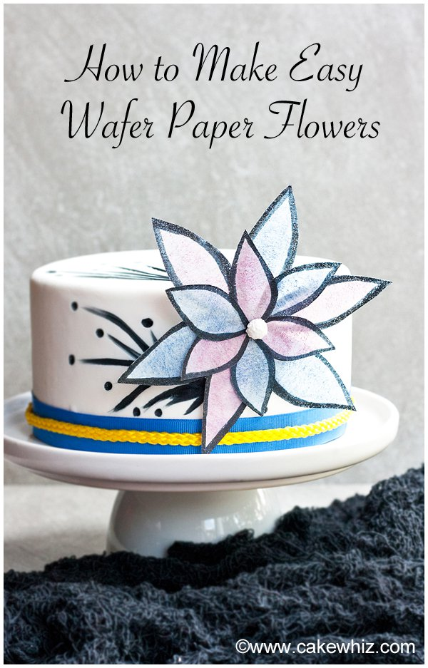 Simple Pink Wafer Paper Flowers