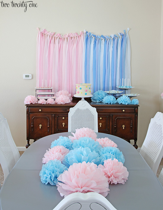 Tissue Paper Pom Poms Birthday Party Ideas