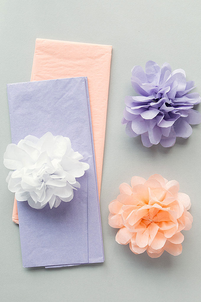 Tissue Paper Pom Poms Wedding