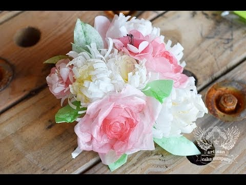 Wafer Paper Flower Bouquet Tutorial
