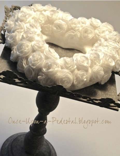 White Rolled Wafer Paper Flowers